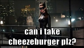can i take cheezeburger plz?