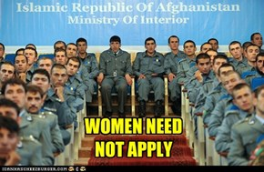 WOMEN NEED NOT APPLY