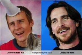 Unicorn Horn Kid Totally Looks Like Christian Bale