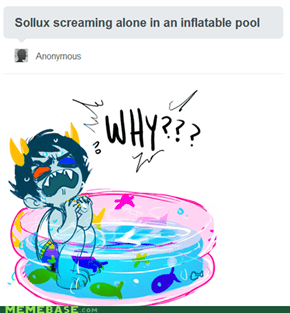 Sollux Screaming Alone With Inflatable Pools