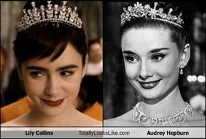 Lily Collins Totally Looks Like Audrey Hepburn