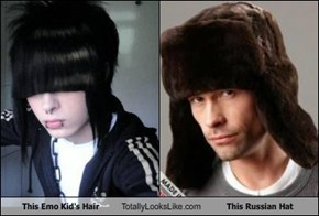 This Emo Kid's Hair Totally Looks Like This Russian Hat