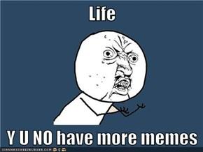 Life  Y U NO have more memes