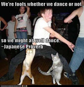 We're fools whether we dance or not, so we might as well dance.  ~Japanese Proverb