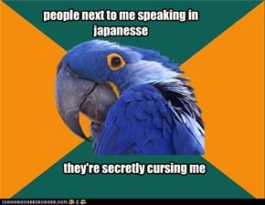 people next to me speaking in japanesse