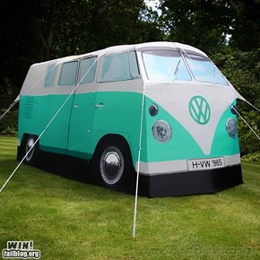 VW camper tent WIN!