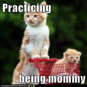 Practicing  being mommy