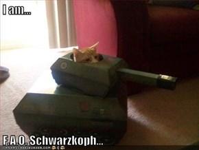 I am...  F.A.O. Schwarzkoph...