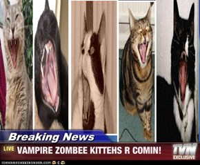Breaking News - VAMPIRE ZOMBEE KITTEHS R COMIN!