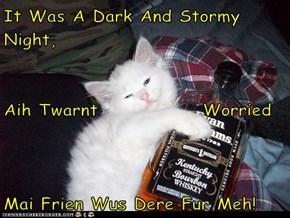 It Was A Dark And Stormy Night, Aih Twarnt              Worried Mai Frien Wus Dere Fur Meh!