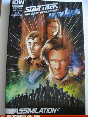 Doctor Who and Star Trek comic