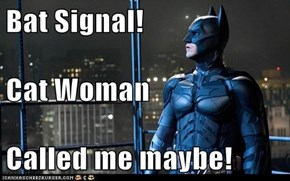 Bat Signal! Cat Woman  Called me maybe!