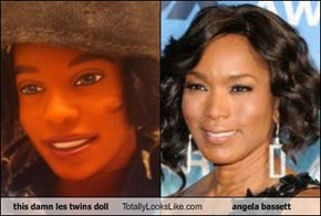 this damn les twins doll Totally Looks Like angela bassett