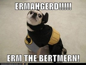 ERMAHGERD!!!!!  ERM THE BERTMERN!
