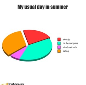 My usual day in summer