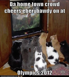 Da home town crowd cheers eberybawdy on at  Olympics 2012