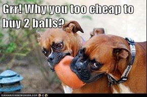 Grr! Why you too cheap to buy 2 balls?