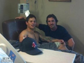 Much respect to Christian Bale for visiting the victims in Aurora
