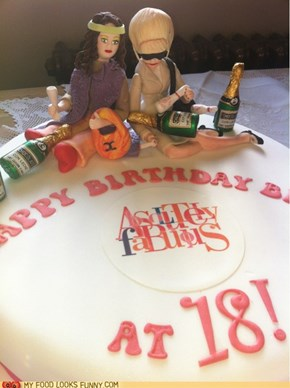 AbFab Birthday Cake