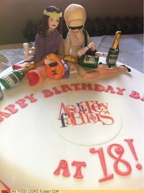 AbFab Birthday Cake