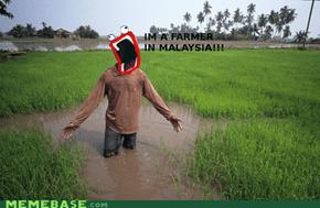 Farmer in Malaysia