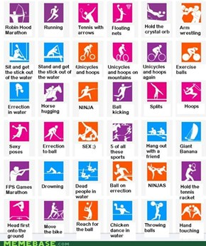 Literal icons of the London 2012 Olympics
