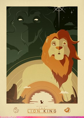 "Art Deco Movie Poster for Disney's ""The Lion King"""