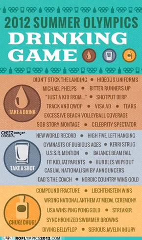 2012 Summer Olympics Drinking Game