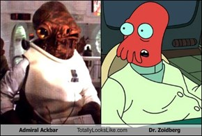 Admiral Ackbar Totally Looks Like Dr. Zoidberg