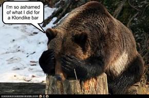 I'm so ashamed of what I did for a Klondike bar