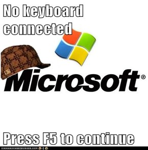 No keyboard connected  Press F5 to continue