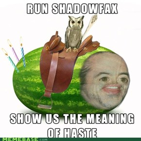 Show Us the Meaning of Haste!