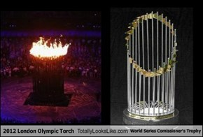 2012 London Olympic Torch Totally Looks Like World Series Comissioner's Trophy