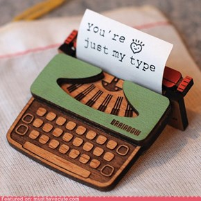 Tiny Typewriter Brooch