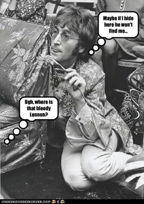 John Lennon Hides From Mark David Chapman