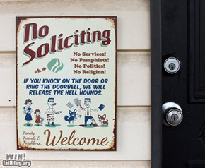 No Soliciting WIN