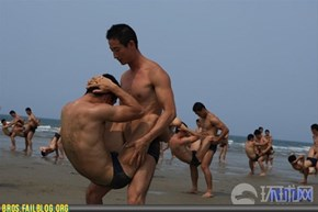 Korean Special Forces White Tigers Training on Beach