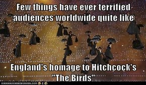 "Few things have ever terrified audiences worldwide quite like  England's homage to Hitchcock's ""The Birds"""