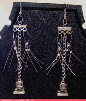 Geeky Computer dangles earrings