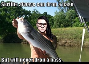 Skrillix always can drop a base   But will never drop a bass..