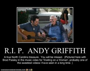 R.I. P.  ANDY GRIFFITH