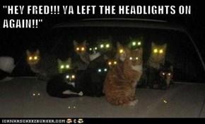 """""""HEY FRED!!! YA LEFT THE HEADLIGHTS ON AGAIN!!"""""""