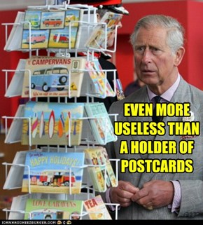 EVEN MORE USELESS THAN A HOLDER OF POSTCARDS