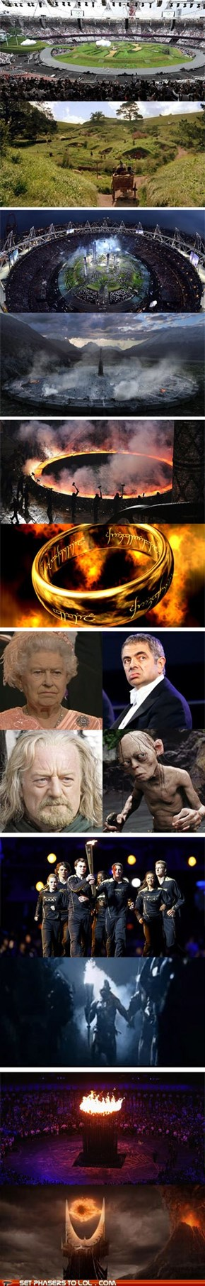 Lord of the Rings - I Knew There was Something Familiar About the Opening Ceremony