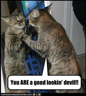 You ARE a good lookin' devil!!
