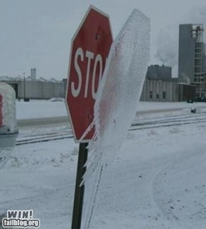 Icy Stop Sign WIN
