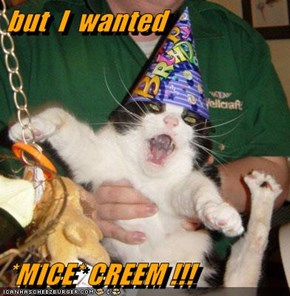 but  I  wanted  *MICE* CREEM !!!