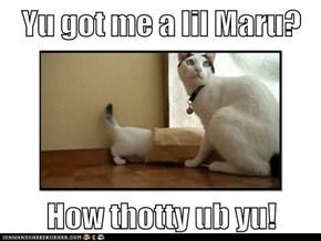 Yu got me a lil Maru?  How thotty ub yu!