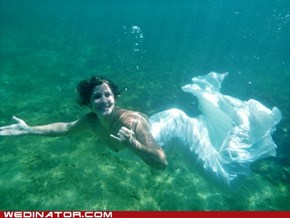 Trash the dress, mermaid style