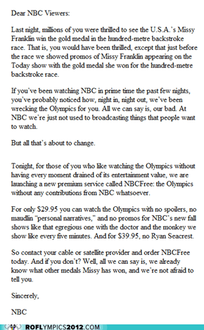 """An """"Apology"""" from NBC as written in The New Yorker"""